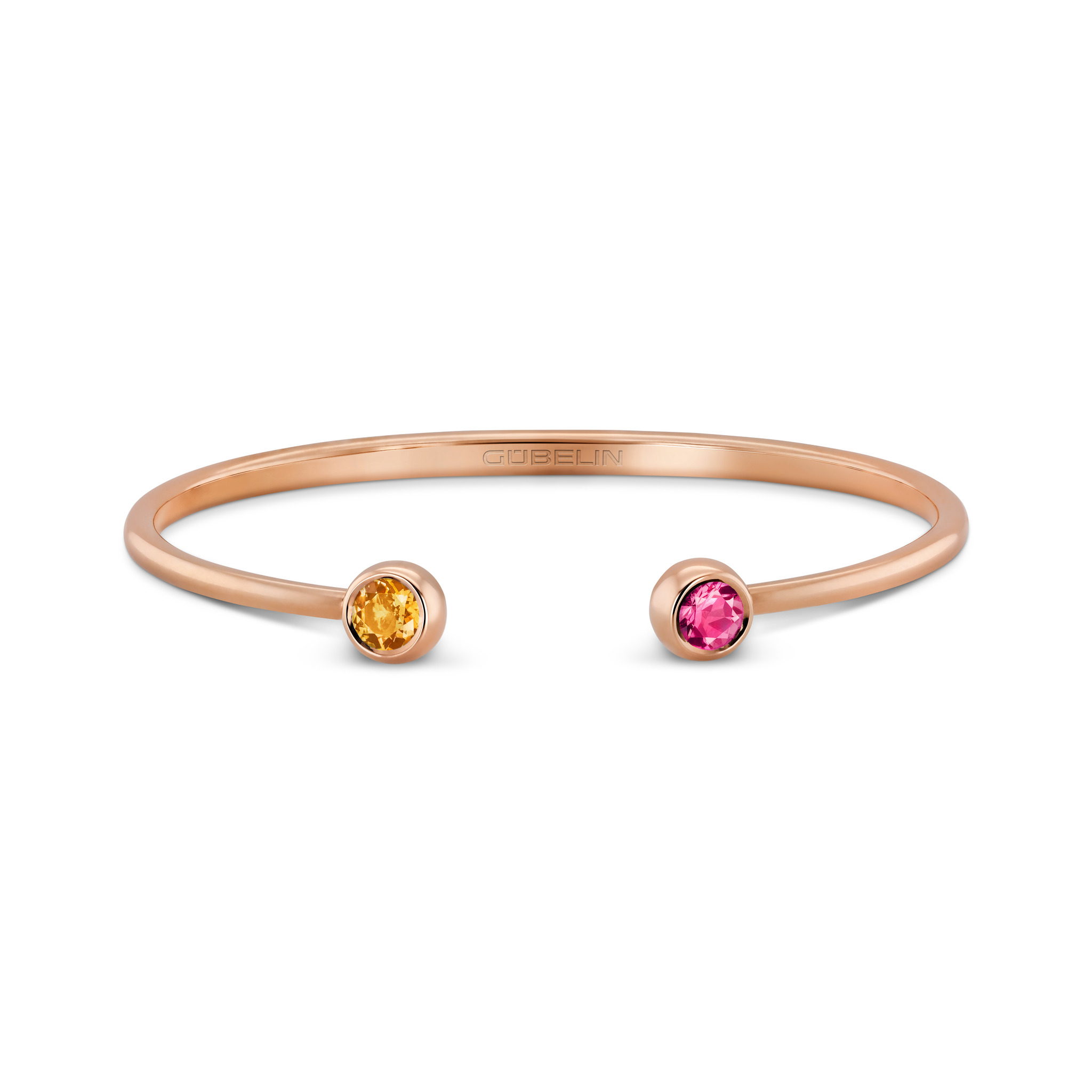 Bangle with coloured gemstones