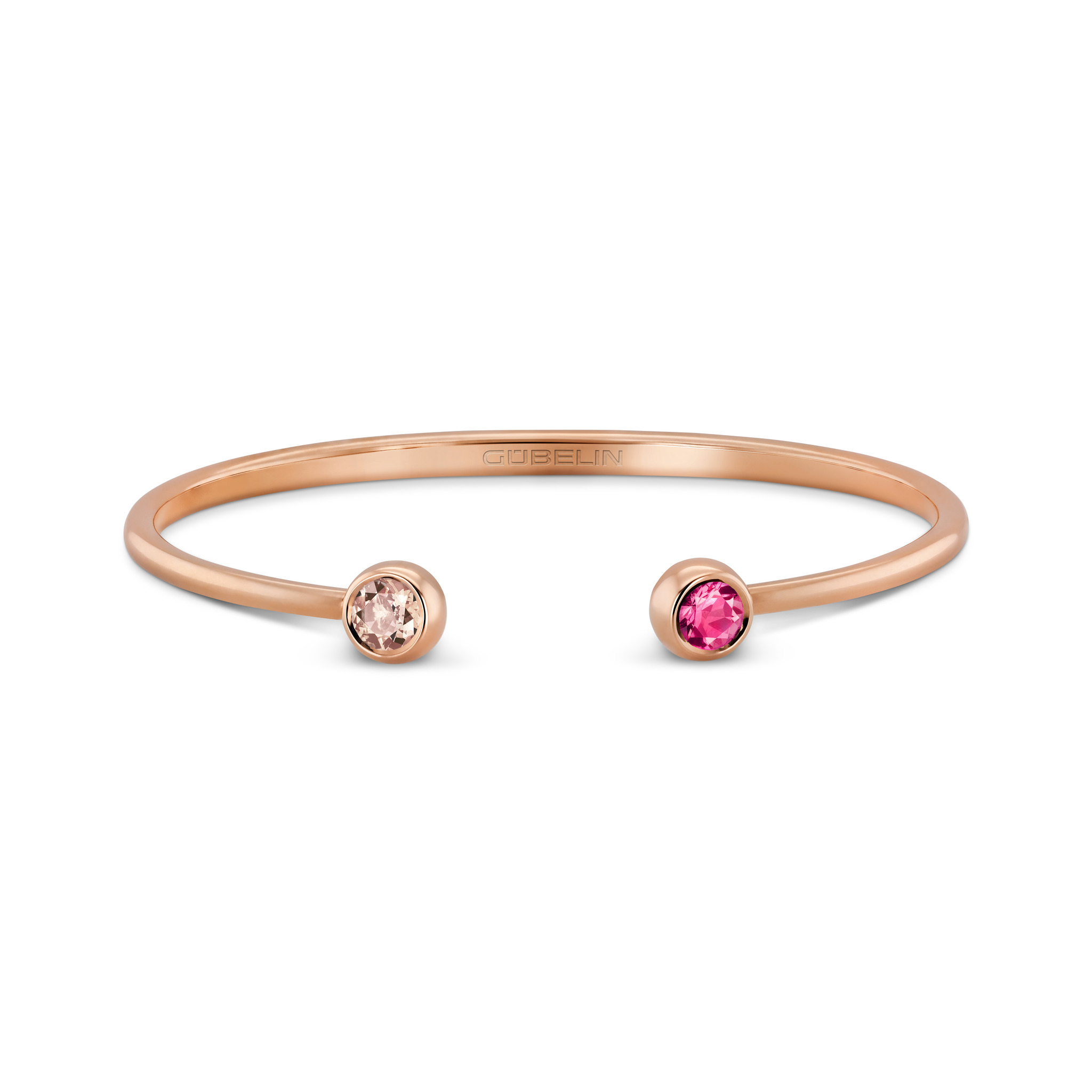 Bangle with coloured gemstones