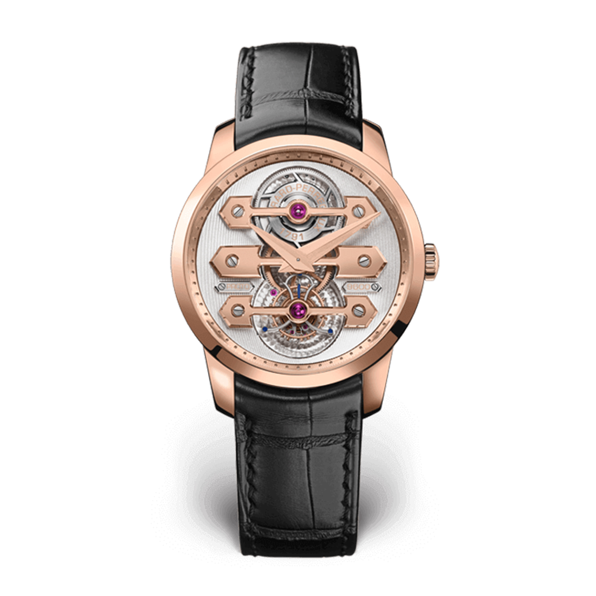TOURBILLON WITH THREE GOLD BRIDGES