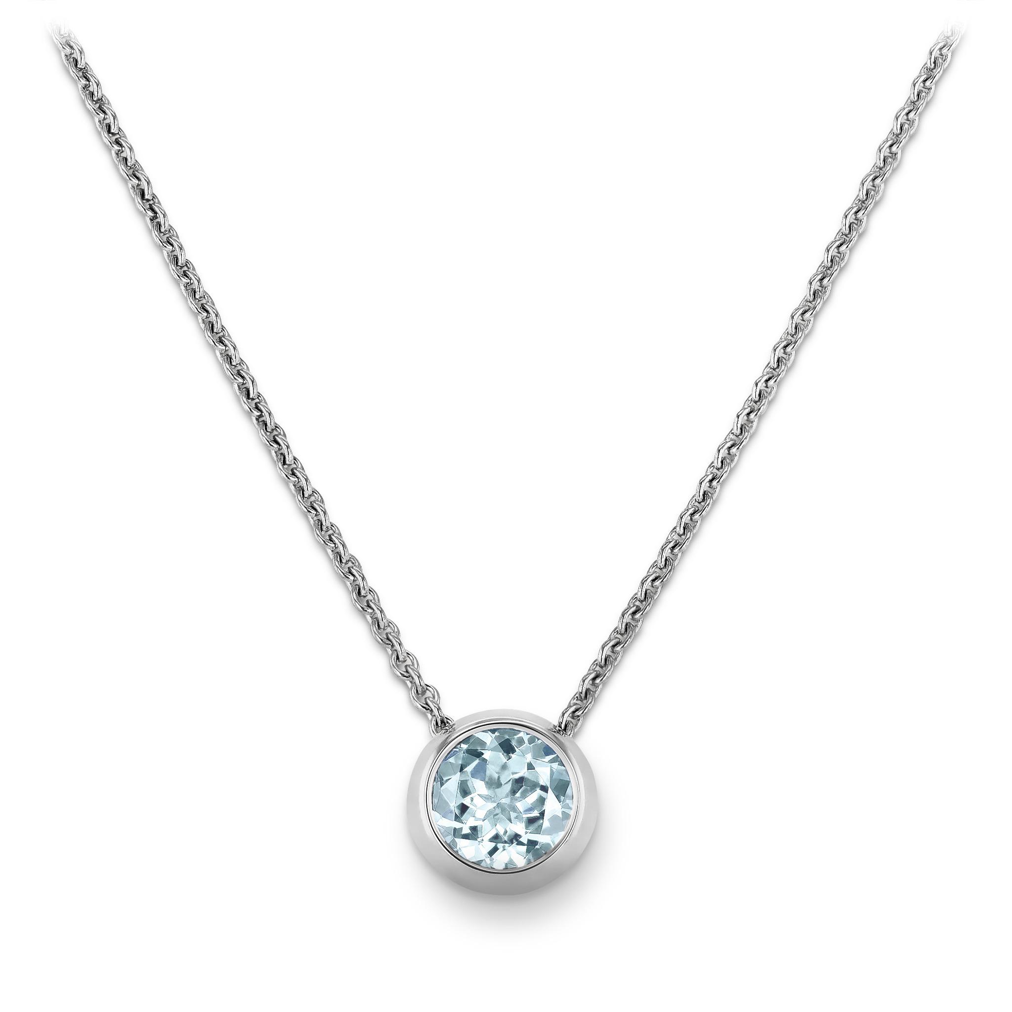 海蓝宝石项链