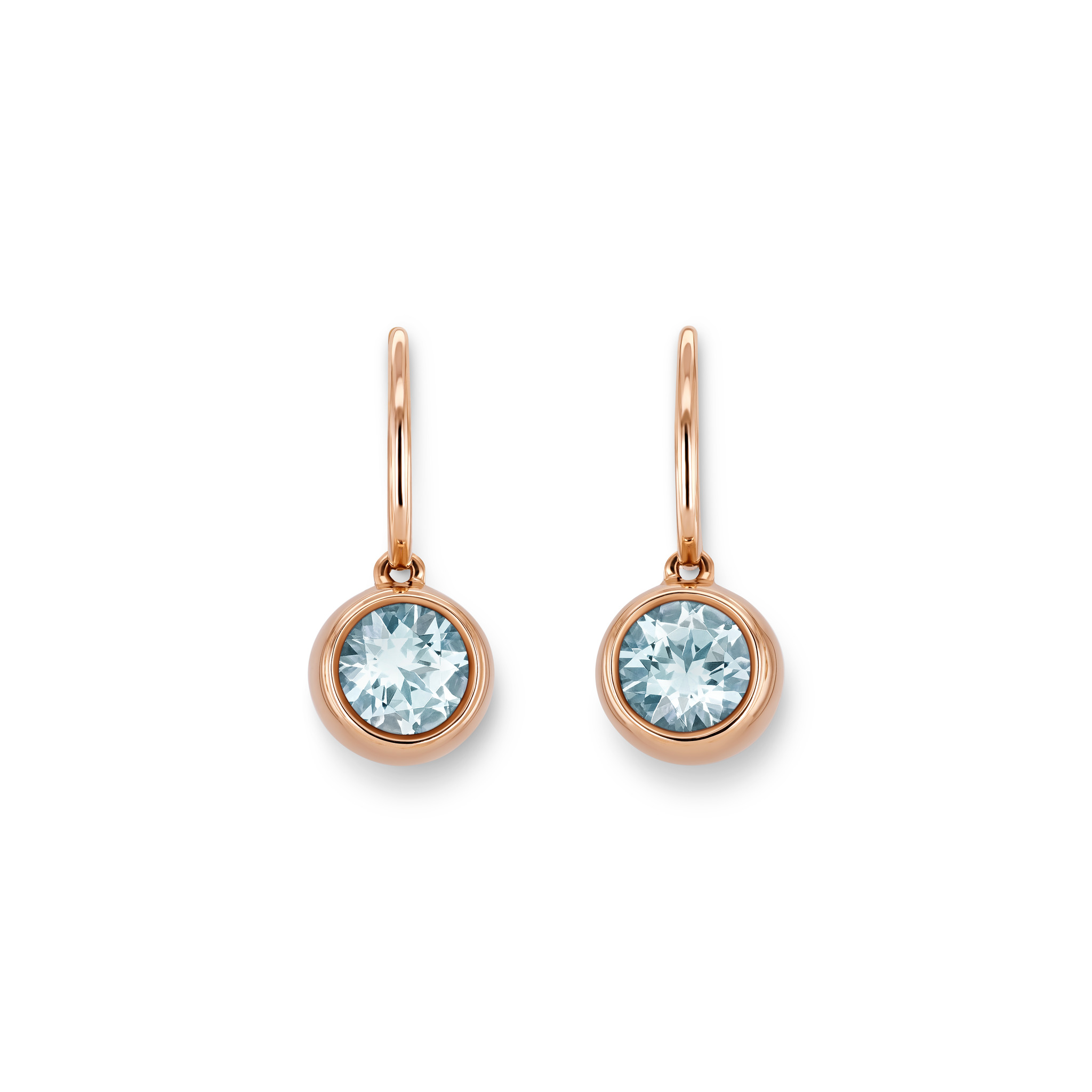 Earrings with aquamarines