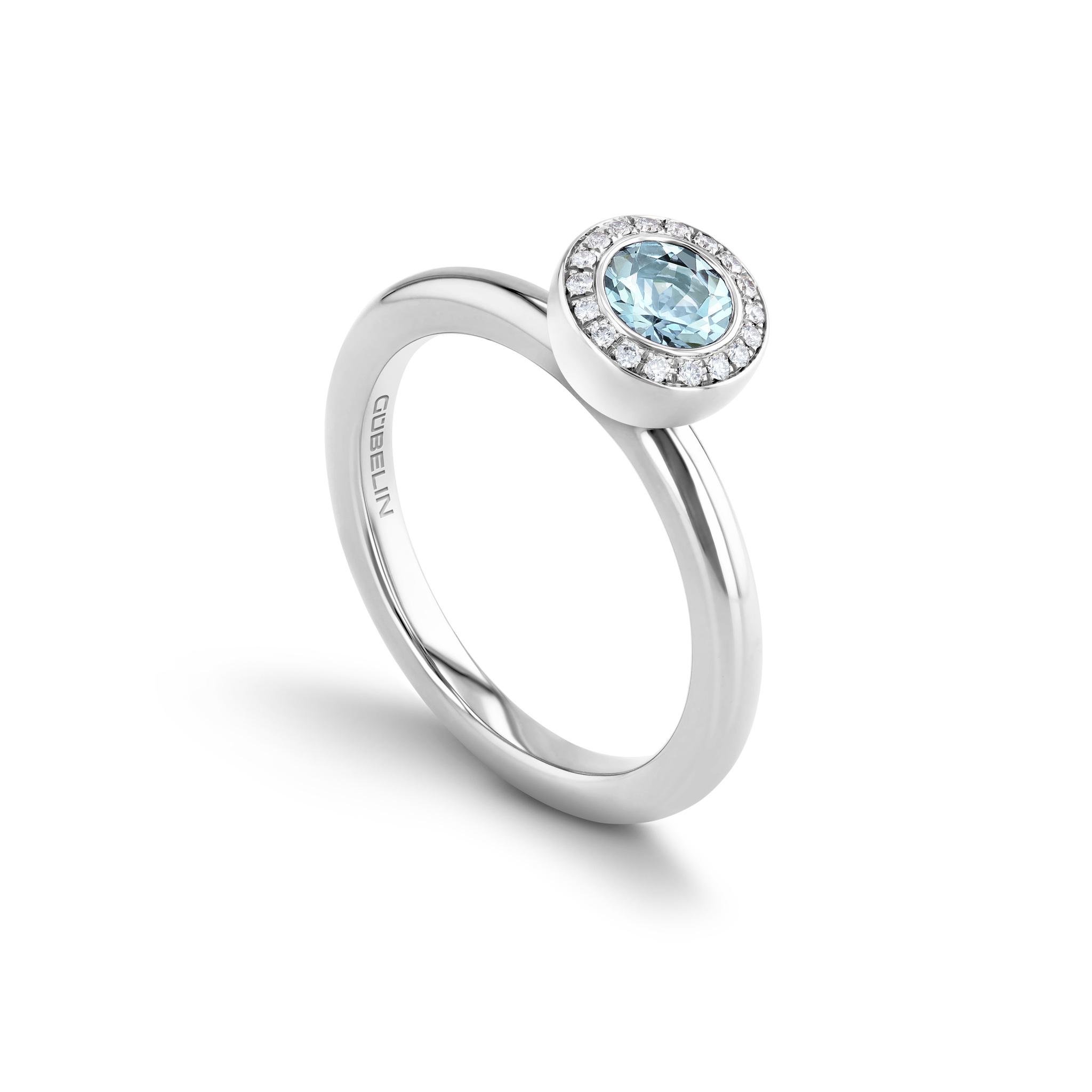 戒指镶嵌蓝晶