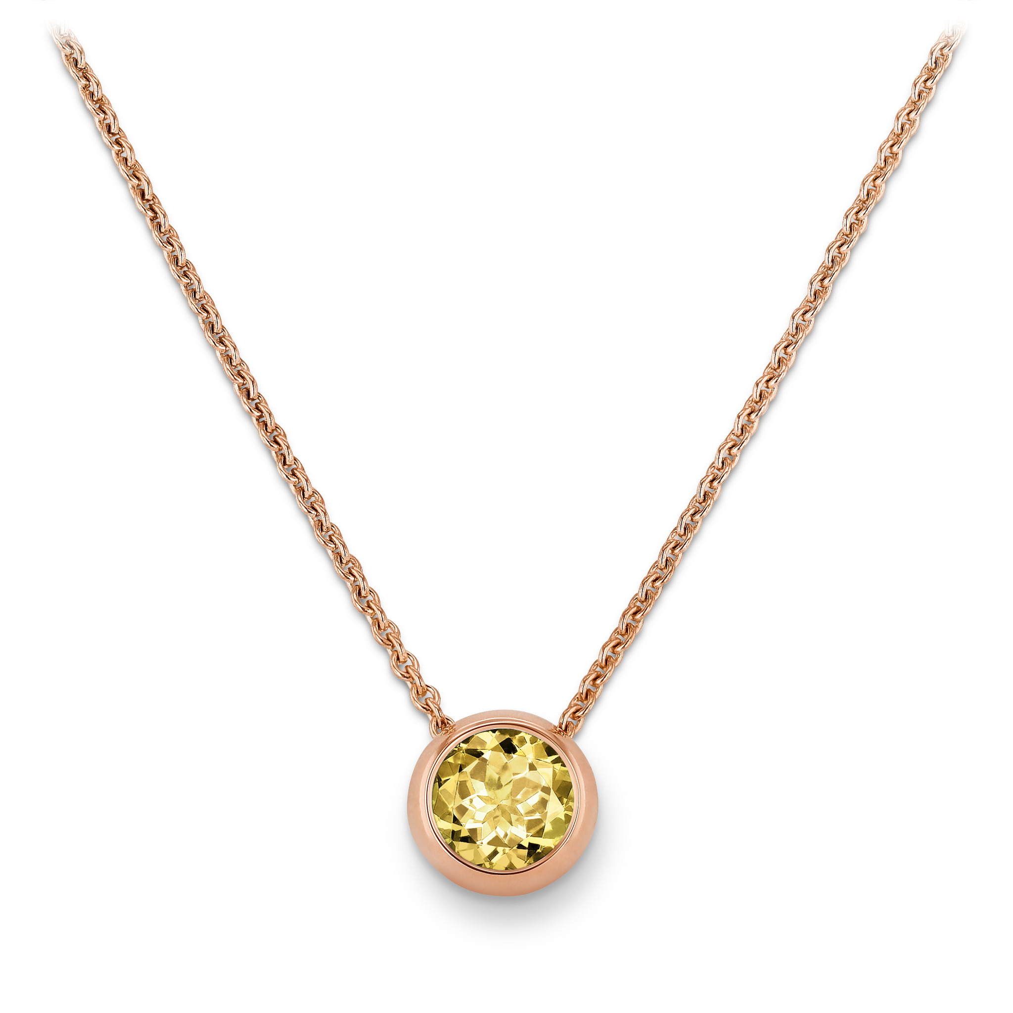 Necklace with beryl