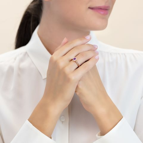 戒指镶嵌紫晶