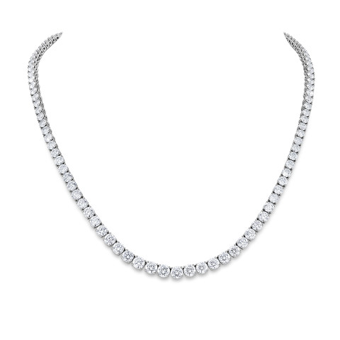 Riviere necklace with diamonds