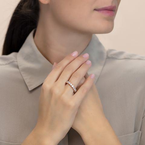 Eternity ring with diamonds