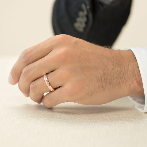 Wedding band with diamonds