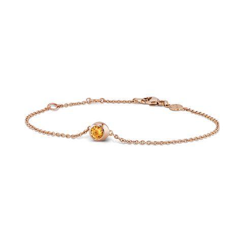 Bracelet with mandarin garnet