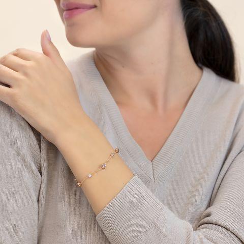 Bracelet with morganites