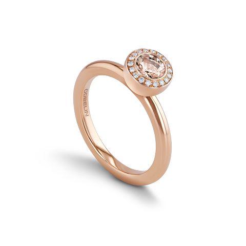 戒指镶嵌摩根石
