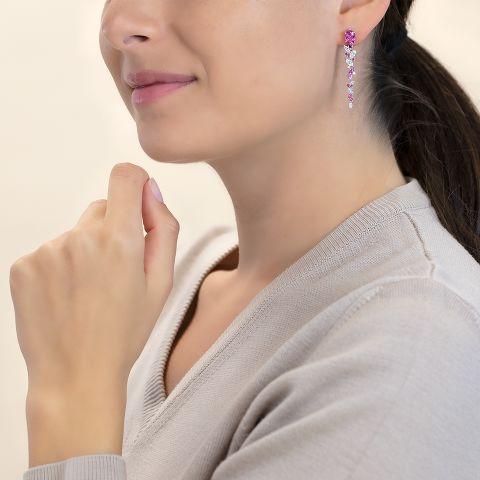 耳环镶嵌蓝宝石