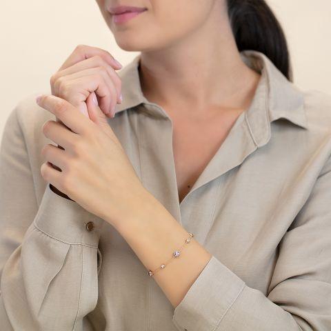 Bracelet with tanzanites