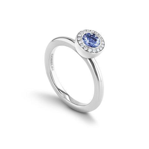 戒指镶嵌坦桑石