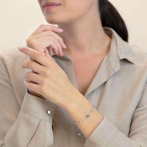 Bracelet with tourmalines