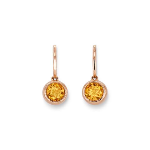Ohrringe mit Mandarin-Granat