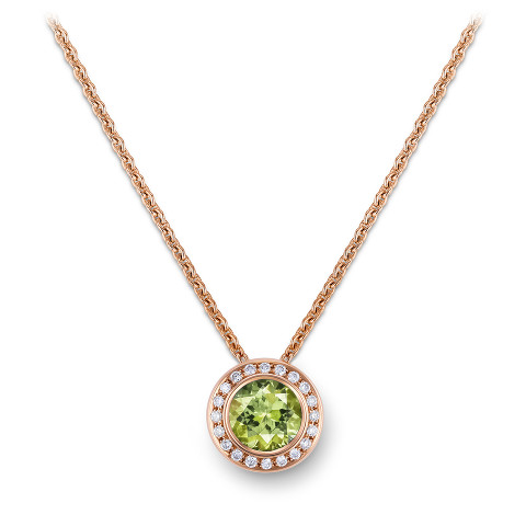 Necklace with tourmaline