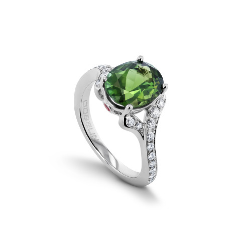 Ring with tourmaline