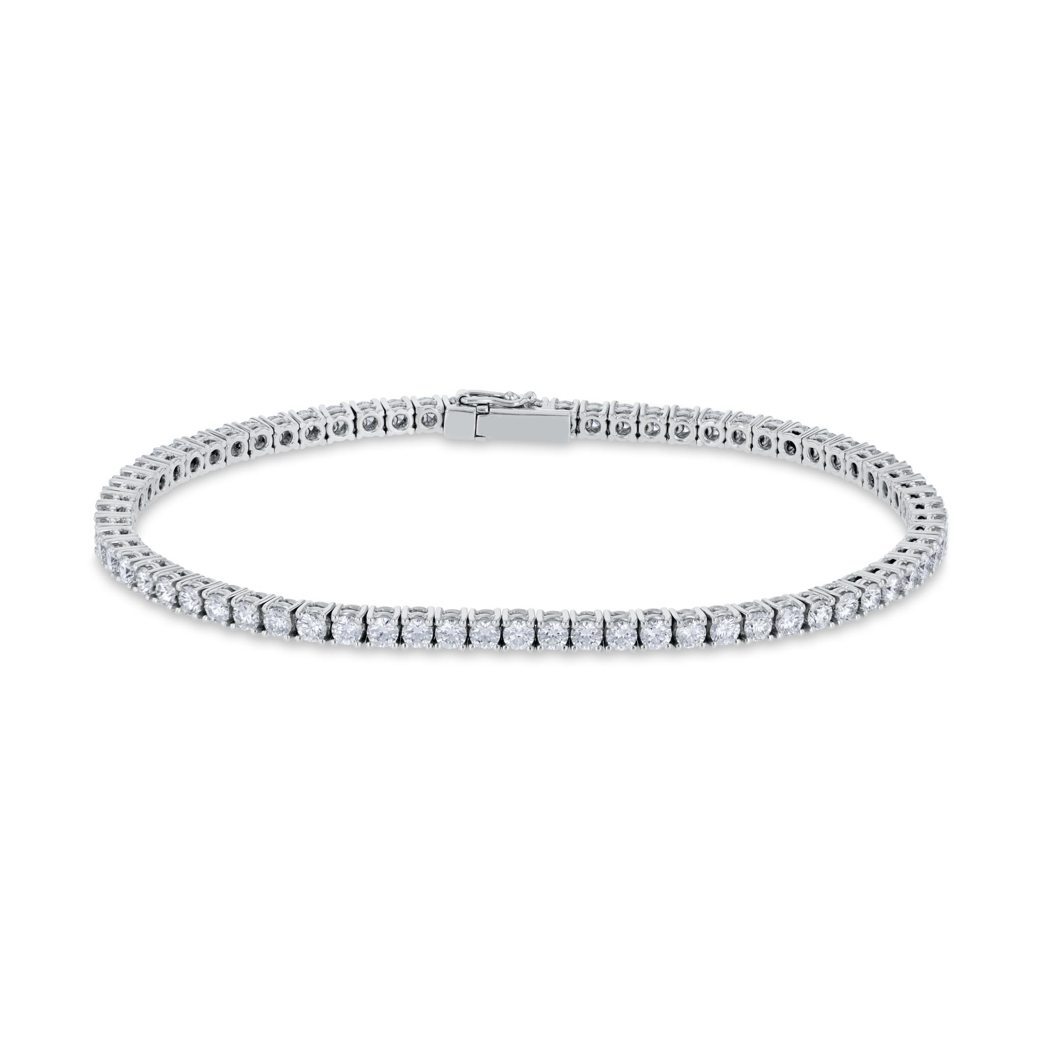 Rivière Armband mit Diamanten