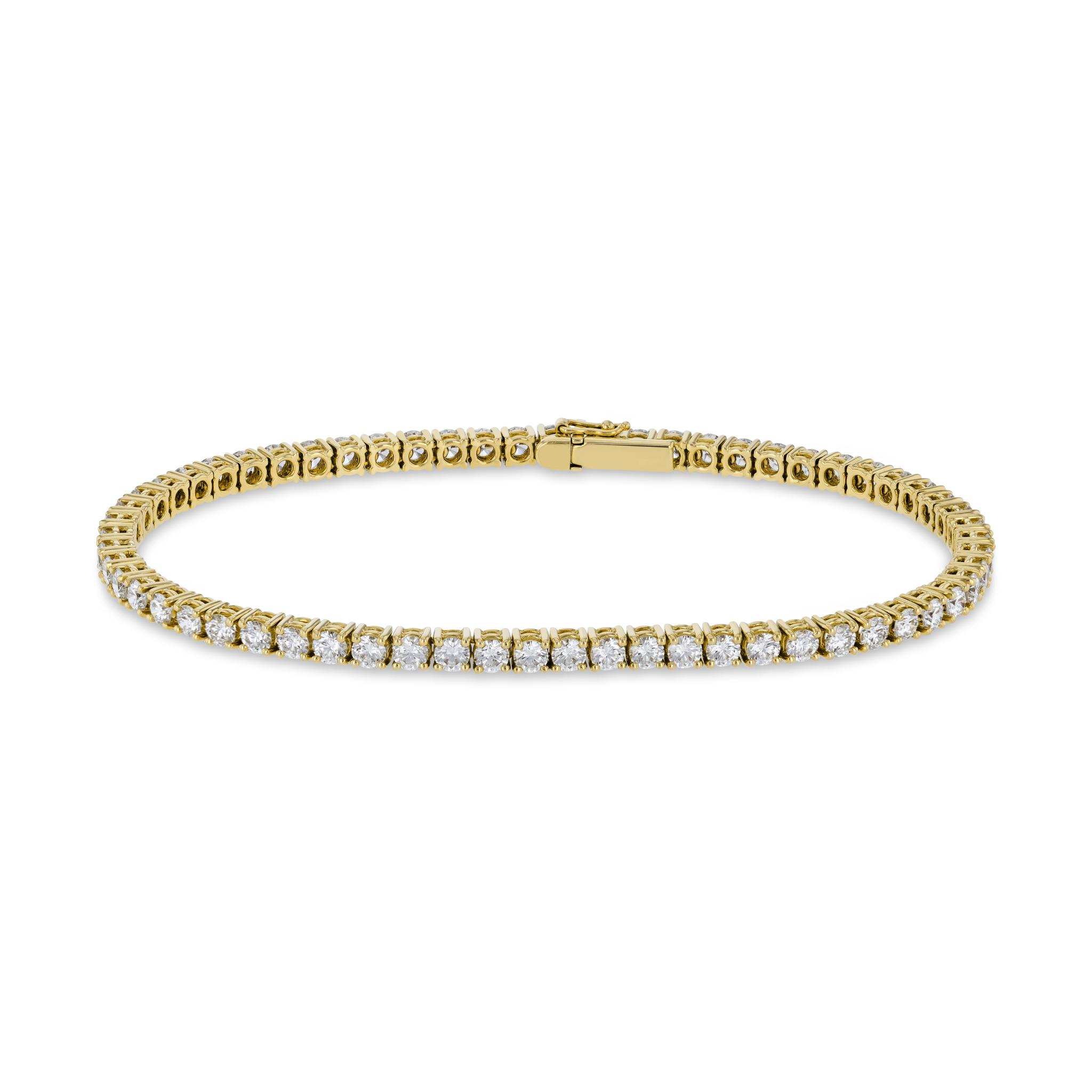 Riviere bracelet with diamonds