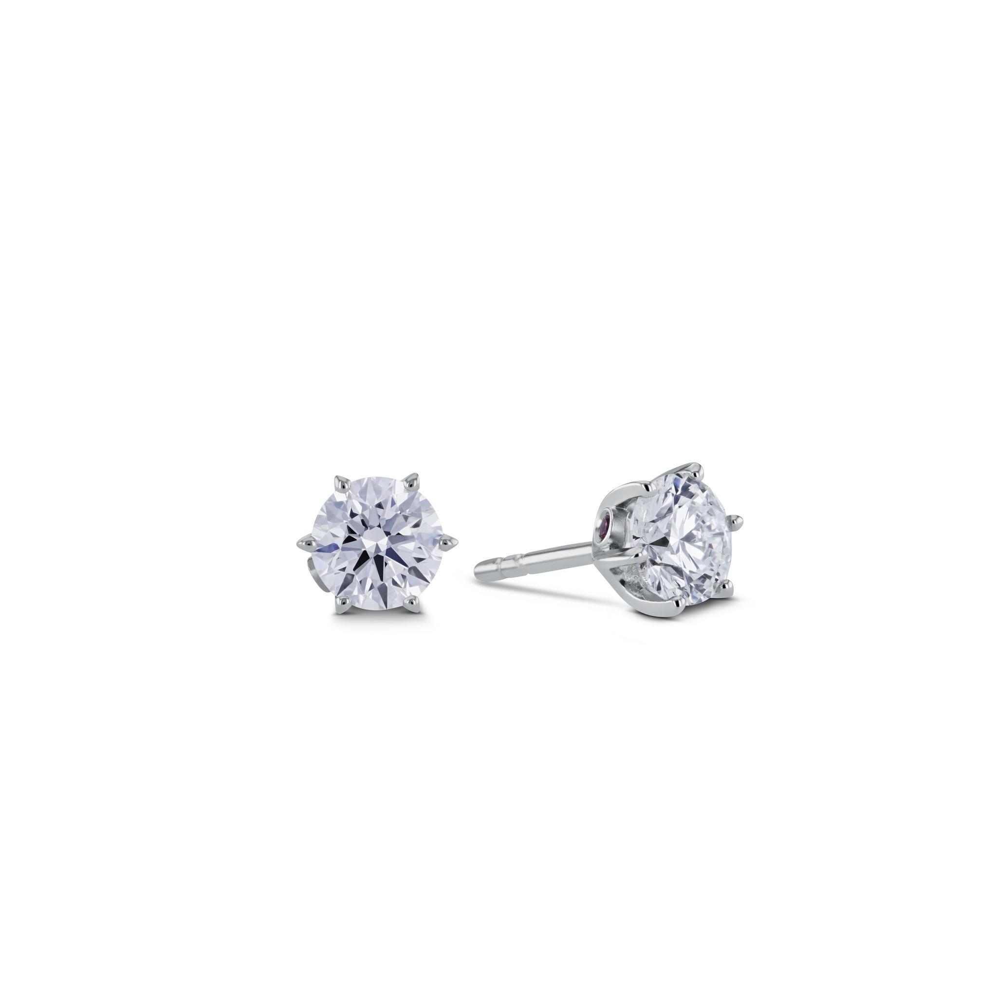 Solitär Diamantohrringe