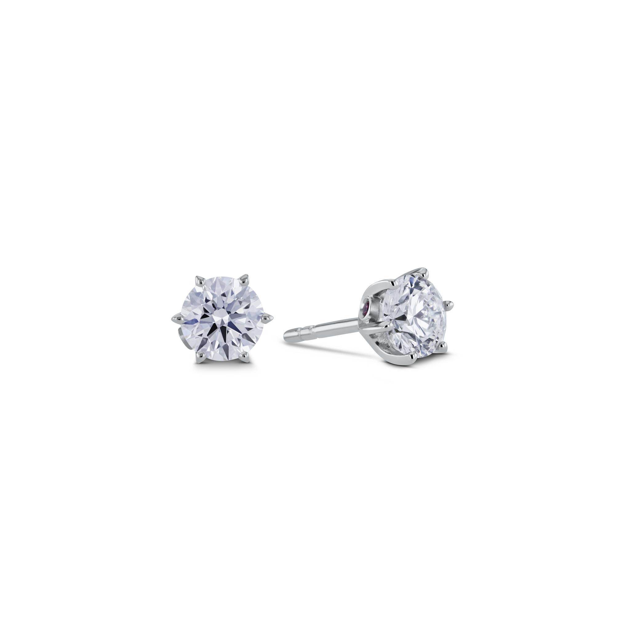 Solitär Ohrringe mit Diamant