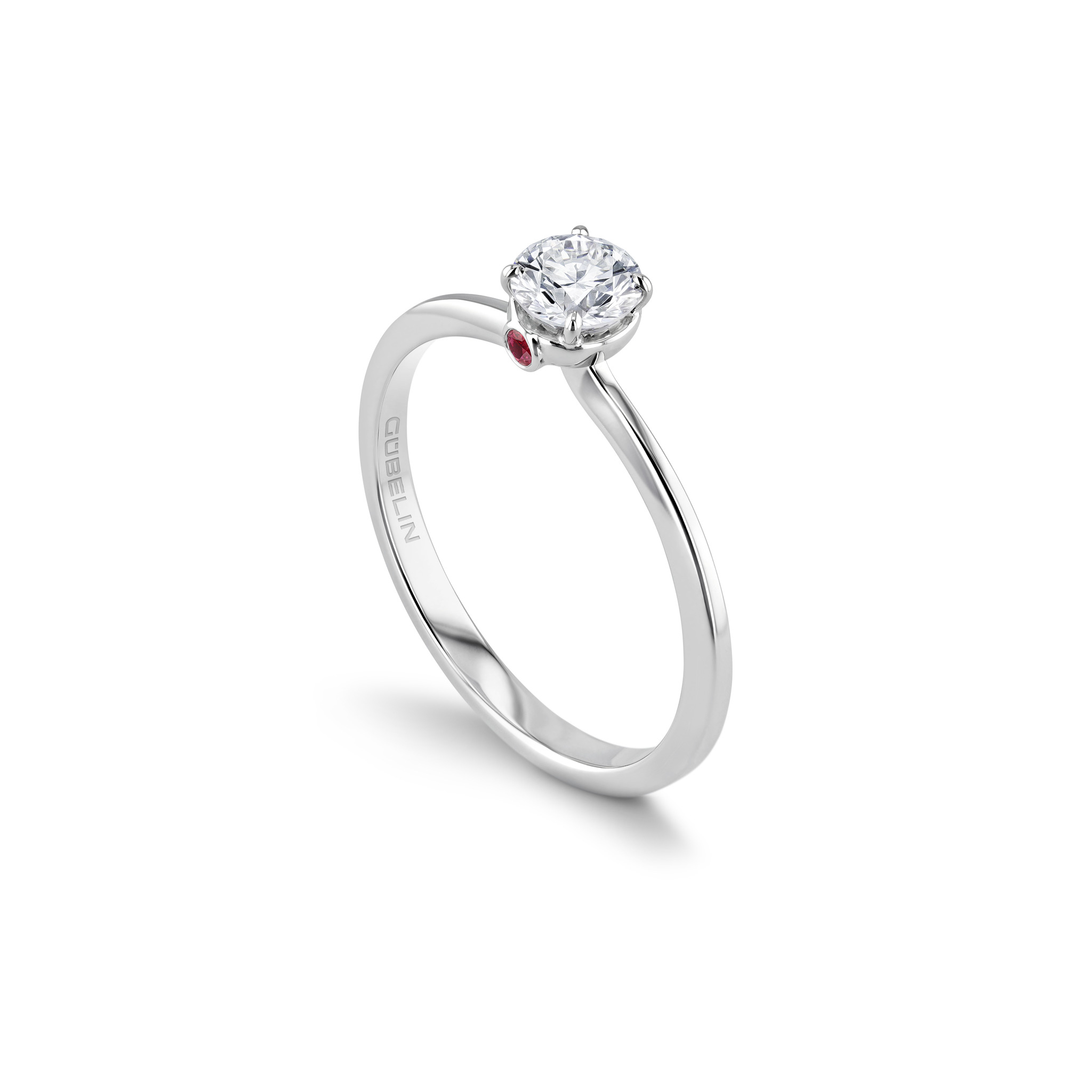 Solitär Ring mit Diamanten