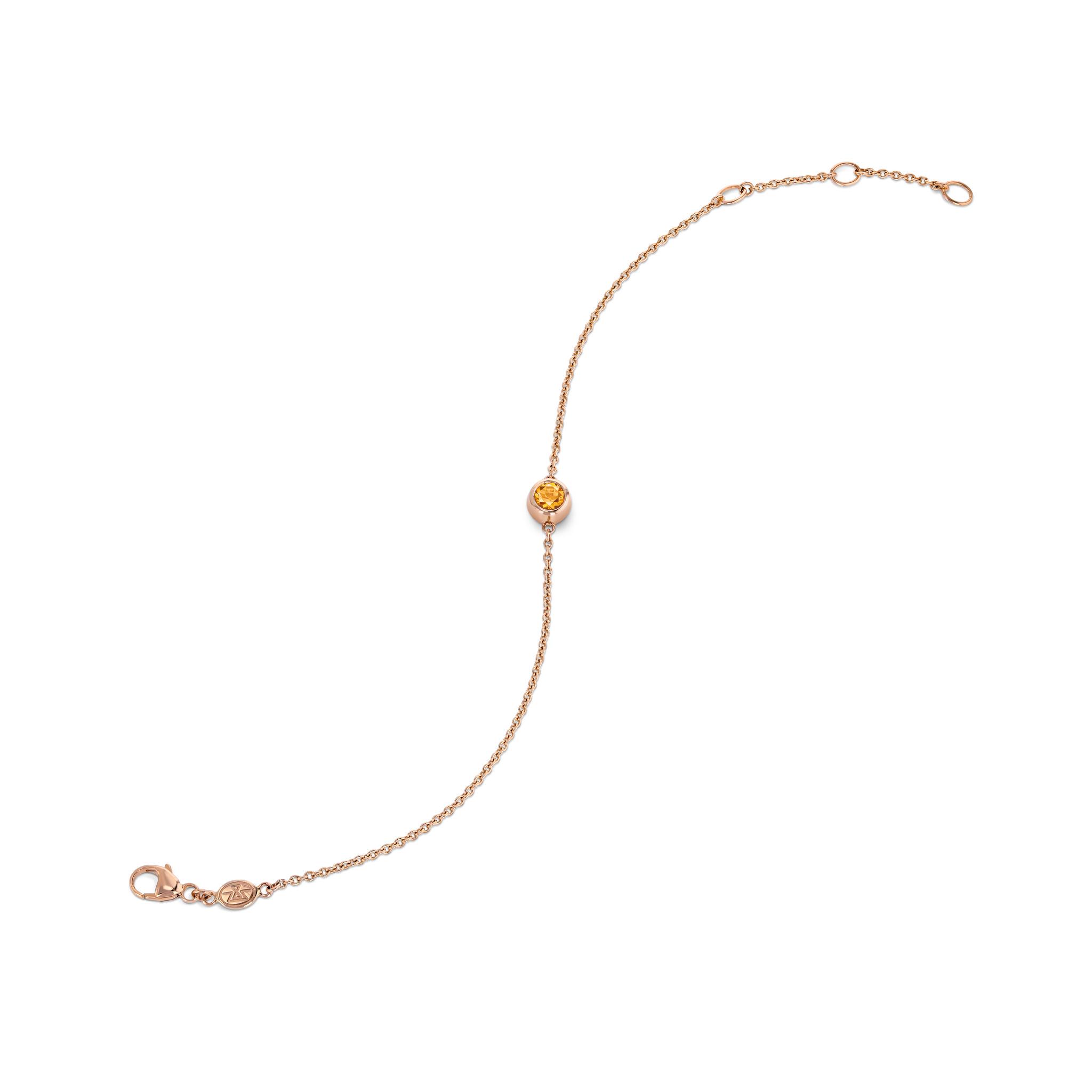 Bracelet with fire opal