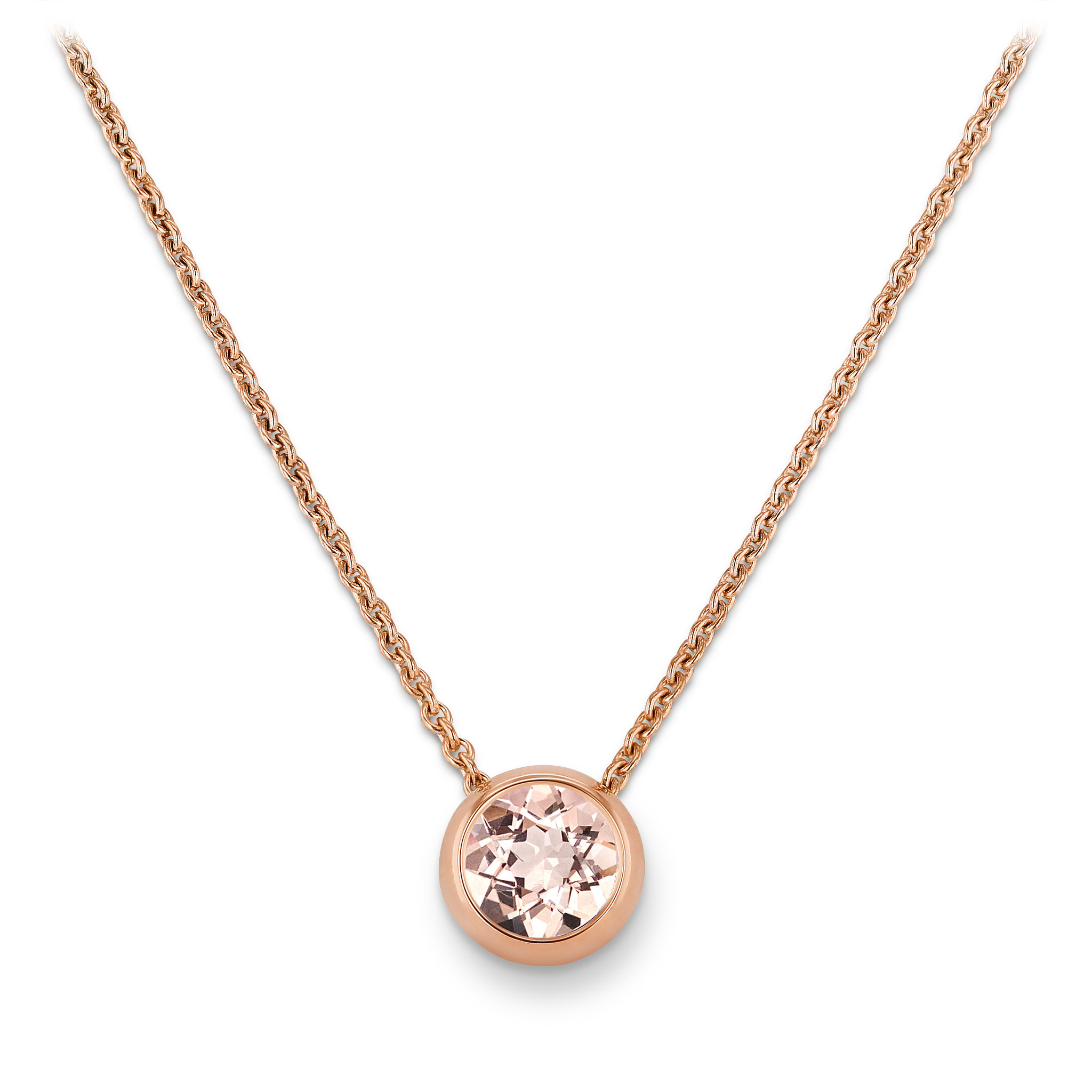 Necklace with morganite