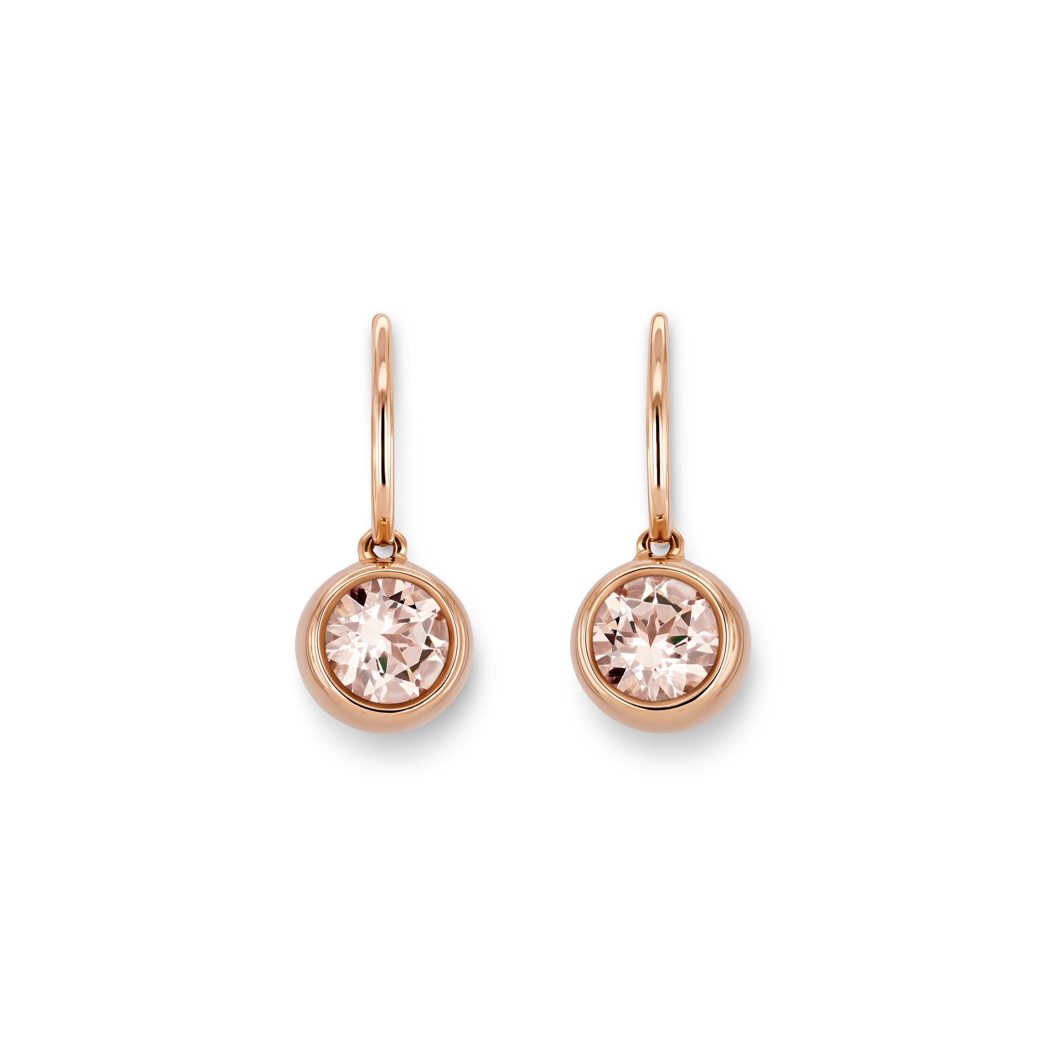 Earrings with morganites
