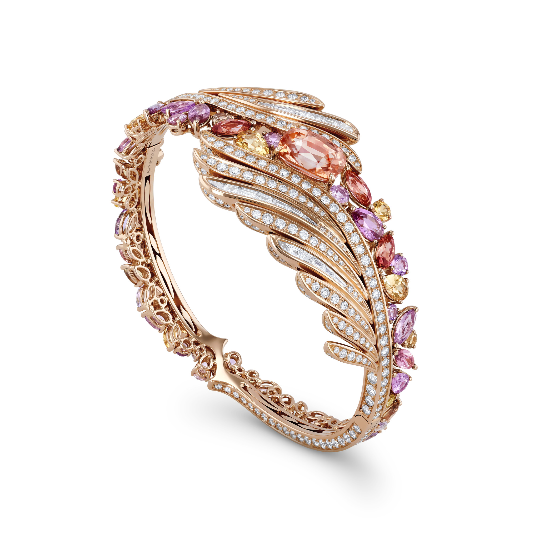 Bangle with sapphires