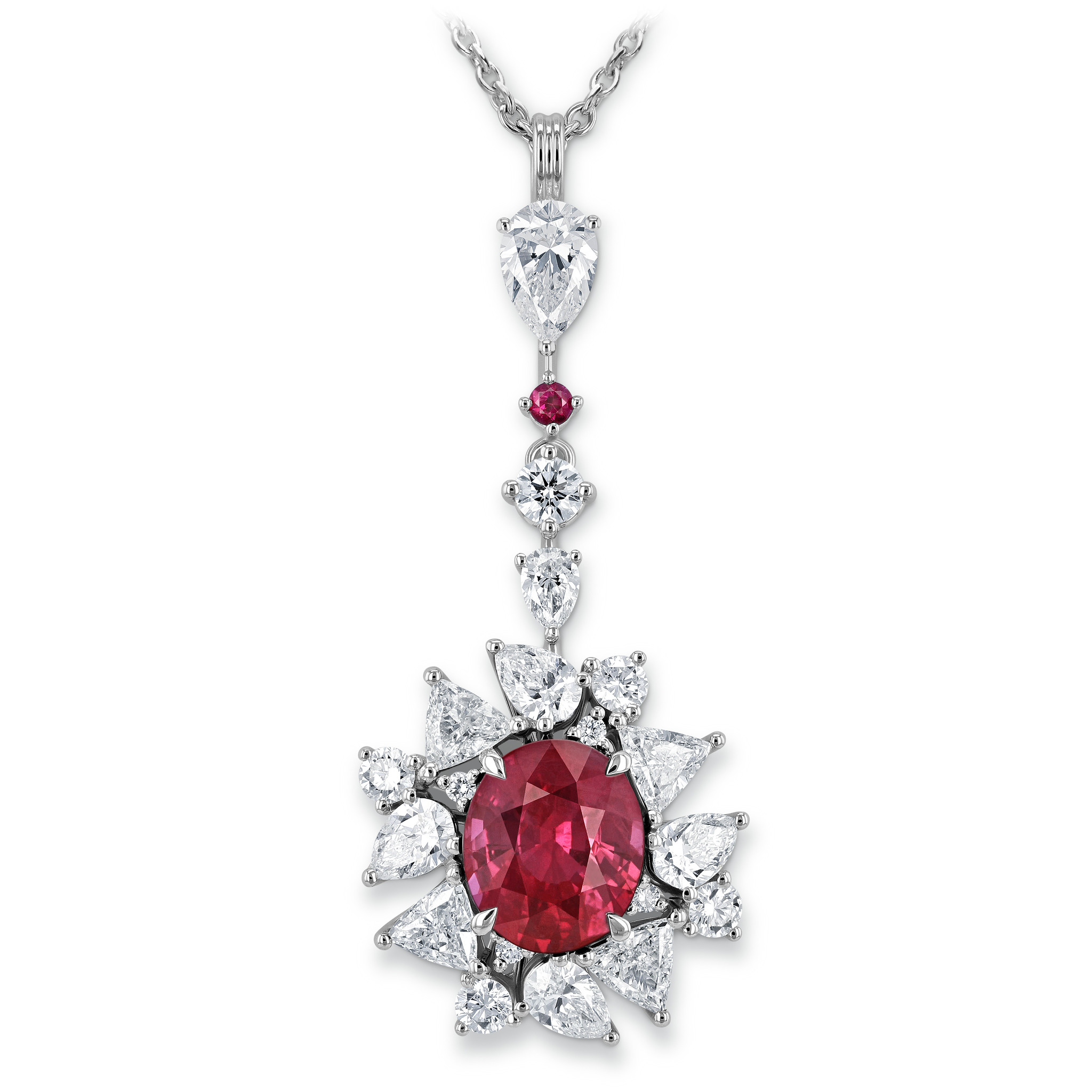 Necklace with ruby