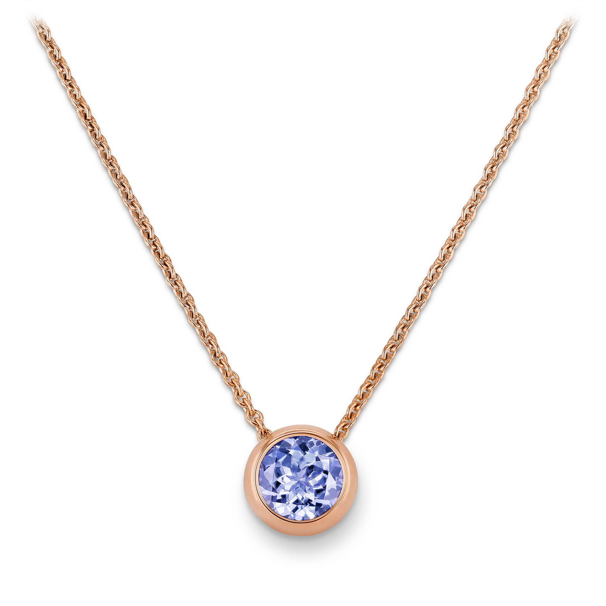 Necklace with tanzanite