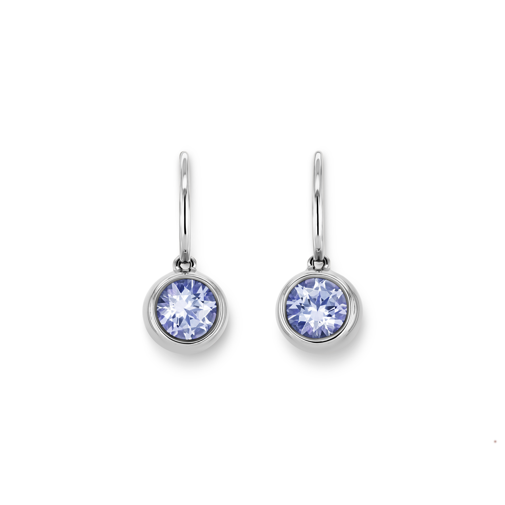 Earrings with tanzanites