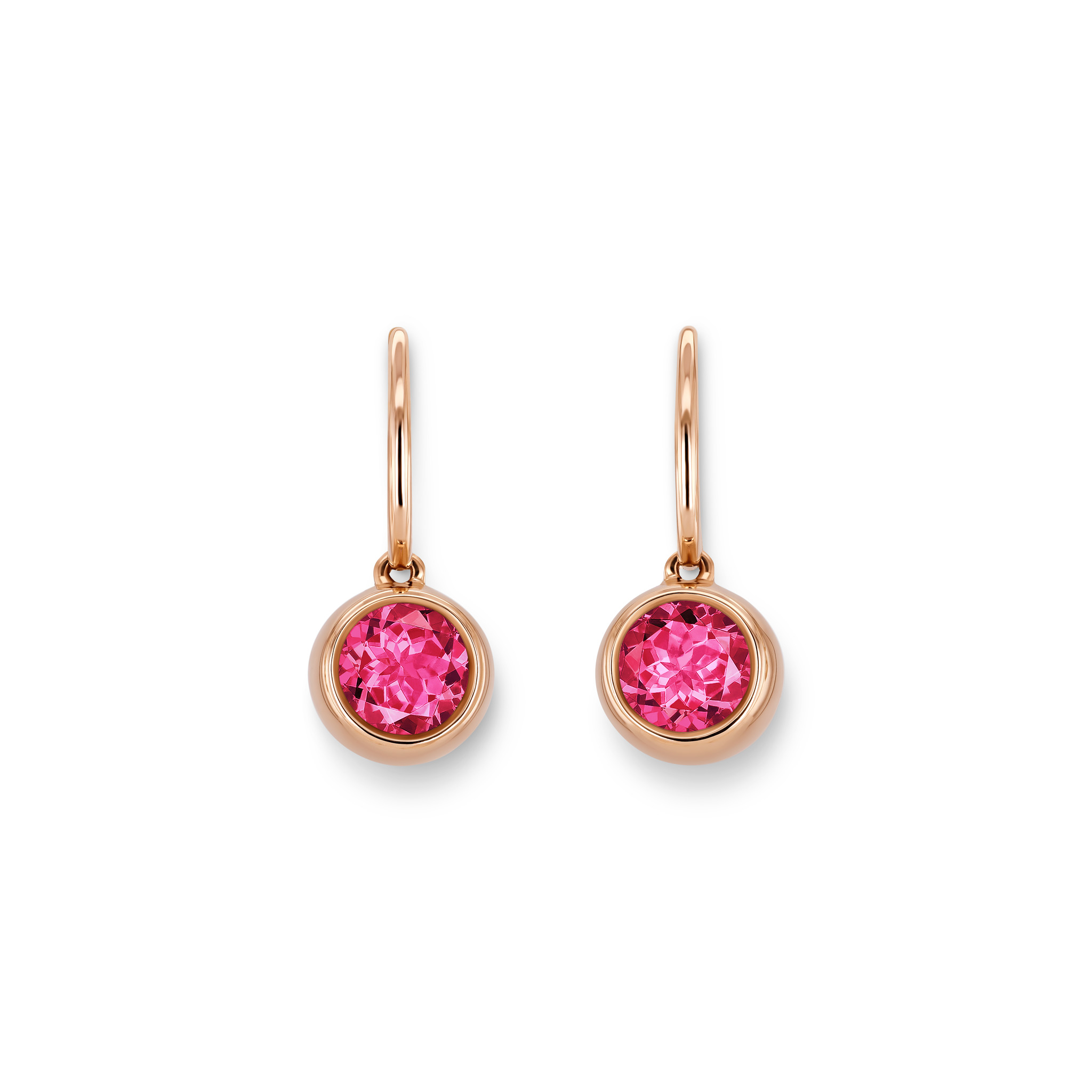 Earrings with tourmalines